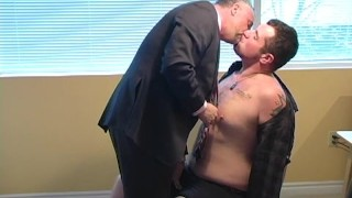 Daddy Has A New Suit  cock sucking brunette rimming cub greatcanadianmale dick sucking hairy kissing bj tattoo old blowjob