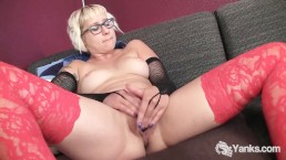 Cutie In Glasses Vi Gets Off While Watching Porn