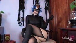 Sexy Villainess Captures You And Makes You Jerk Your Cock For Her