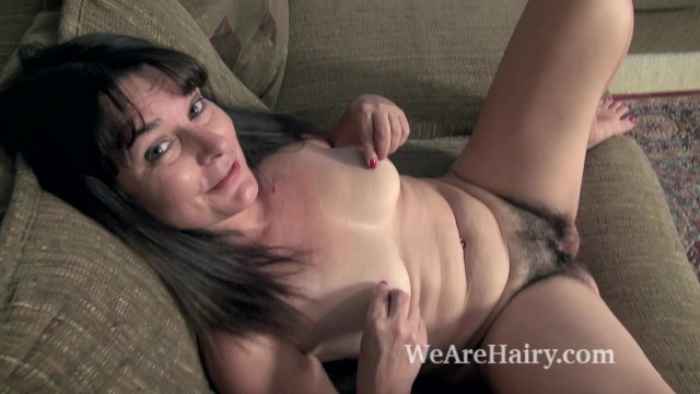 Brown and naked - Kelly lima strips naked on her brown couch