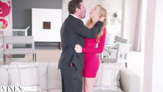 VIXEN Kendra Sunderland has sexecutive meeting with her boss Pov pov