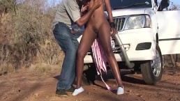 safari sex with chubby african babe