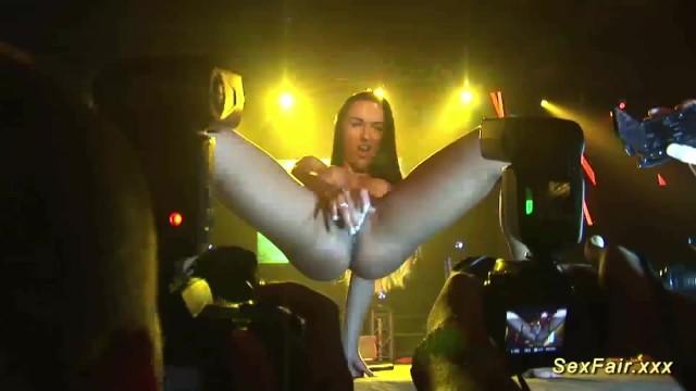 Sexy strip show - Sexy strip show on public stage
