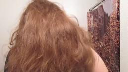 Hair Journal: Combing Long Curly Strawberry Blonde Hair - Week 11 (ASMR)