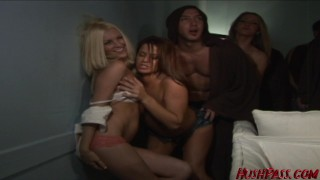 Frat House Fuck Fest continues with Angelene Marie!