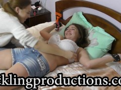 Tickling Olga part 1 - Get her Adeline - clip is 6:08 min long -
