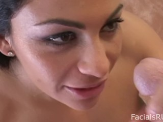 Young Brazilian Foreign Exchange student loves choking on your cock