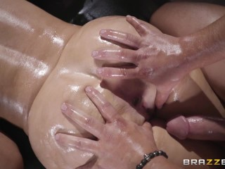 Alena Croft gets oiled up and pounded – Brazzers