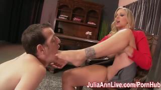 Feet boy julia makes busty her foot lick ann milf milf feet