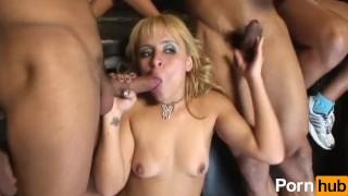 Horny Latinas Get Fucked by Many Cocks porno