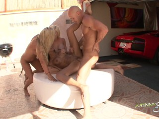 Johnny Sins Three Girl Bikini Pool Party