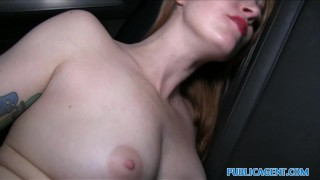 Public Agent Inked ginger earns cash for fucking
