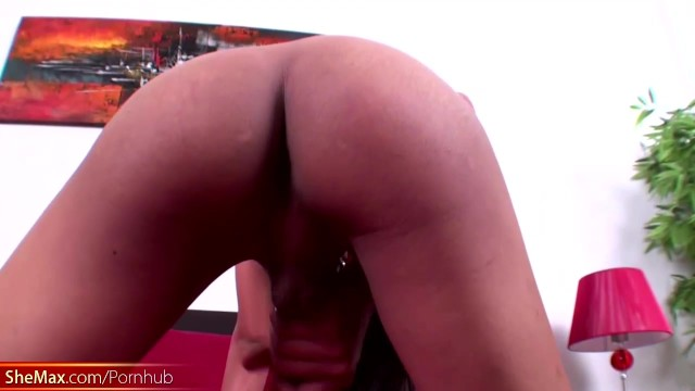 Asian femboy with big boobs jerks off and jizzes her hands 4