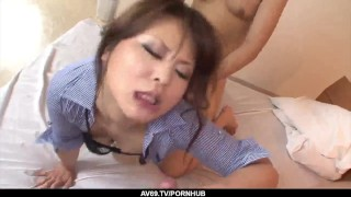 Pussy her cock of large asian inches into takes ai hairy airi sucking pussy