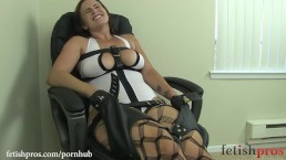 Bella Rossi Chair Tied bondage orgasm