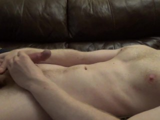 Young Guy Lubed Up And Squeezing Out Ropes Of Cum -- JohnnyIzFine