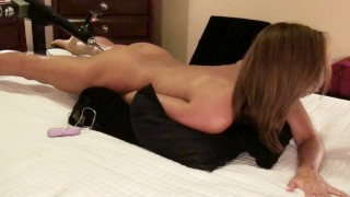 BRUNETTE AMATEUR HAS MULTIPLE ORGASMS FUCKING STRYKER FUCK MACHINE