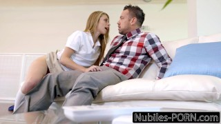 Punished stepdad olsen daughter by anya caught tits deepthroat