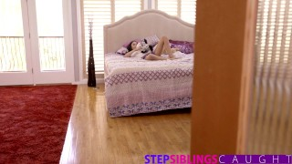 StepSiblingsCaught - Helping My Step Sister Ariana Marie Cum Bubble lingerie