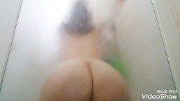 Wife home alone show her sexy body pussy and ass masturbate with dildo