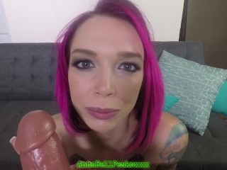 Anna Bell Peaks Teases Her Naughty Slave Makes Him Cum Without Touching