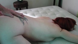 Tight Grey Dress Tease, Ass up, Suck and Doggy Fuck with Creampie