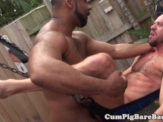 Outdoor mature barebacked by...