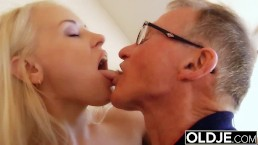 Old young - Just turned 18 and fucks a wrinkled old man gets pussy fucked