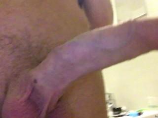 Pissing morning erection...