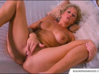 Tracy licks is alone and horny...