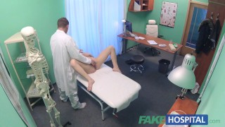 Fake Hospital Shy patient with soaking wet pussy squirts on docs fingers Swing tits