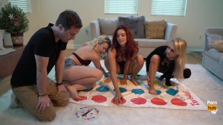 Pornstars Play Twister! With Alix Lynx, Jayden Cole and Samantha Rone