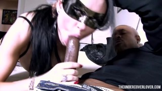 black grl white man blowjob