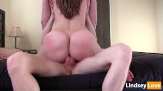 Hardcore creampie riding deep lindseylove with intimate close