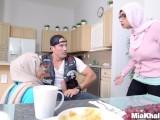 Big Tits Arab Pornstars Mia Khalifa and Julianna Vega Fuck Big Dick White D