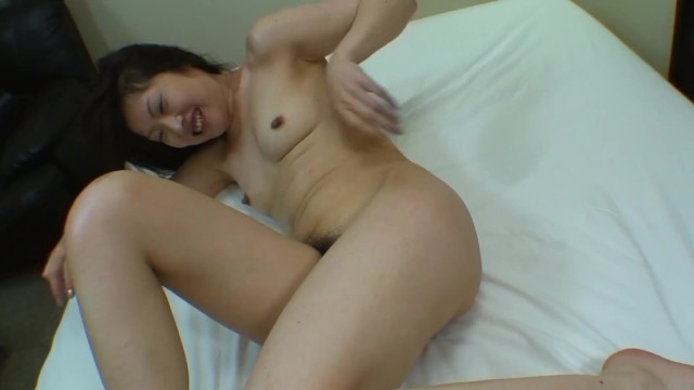 Shy Japanese MILF shows her hairy pussy for vibrators and creampie 44