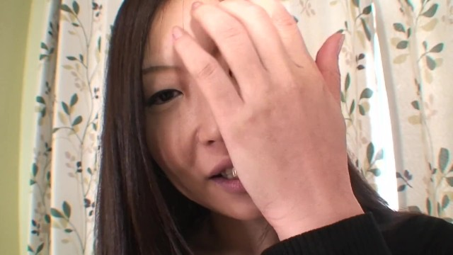 Shy Japanese MILF shows her hairy pussy for vibrators and creampie 16