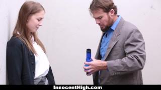 Preview 2 of InnocentHigh - Hot Schoolgirl Smokes Weed & Sucks Some Cock