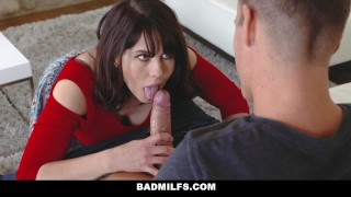 BADMilfs - Jacked off & fucked while being tutored by Step Mom