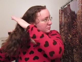 Hair Journal: Combing Long Curly Strawberry Blonde Hair - Week 15 (ASMR)