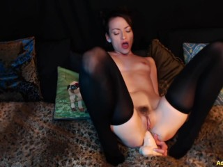 Big dildo – Pounding My Ass Squirting On My Face