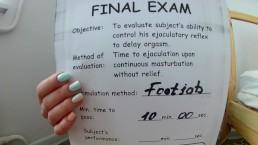 Footjob Stamina Text Part 2. Retake Exam. PASS or FAIL?