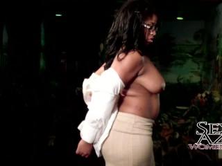 Thick ebony babe big tits...