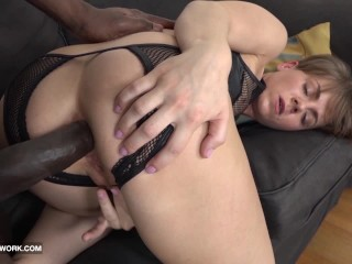 Short hair milf cock in hardcore sex...