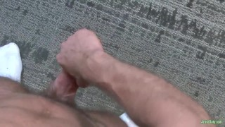 ActiveDuty Str8 Army Hunk Craig Plays with His Cock