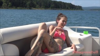 Has boat huge a public facial mayvendoll on sex skinny mayvendoll