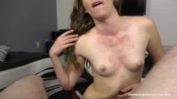 Girlfriend Katie Star Rubs Her BF's Cum All Over Her Body After Blowjob!!!