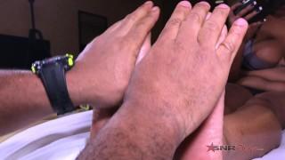 Me watch daddy make cum with rivera nina feet my feet black
