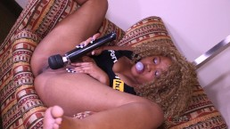 Chewing gum, playing with my vibrator and blowing bubbles / Nina Rivera