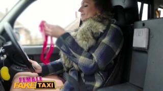Taxi orgasms results drivers dildo female fake taxi in lesbian in squirting girl reality